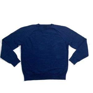 J crew Textured cotton Crewneck Sweater Blue